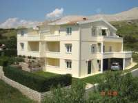 Apartments Bašaca accommodation 150 m to the beach island Pag Croatia